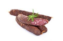 Smoked sausages Stock Image