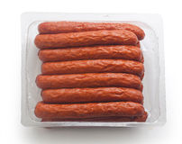 Smoked sausages (Jagdwurst) Royalty Free Stock Image