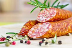 Smoked Sausages Royalty Free Stock Photo