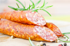 Smoked Sausages Royalty Free Stock Photography