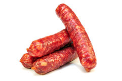 Smoked sausages Royalty Free Stock Image