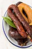 Smoked sausages Royalty Free Stock Photo