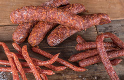 Smoked sausages Royalty Free Stock Photos