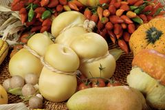 smoked scamorza Italia cheese  Royalty Free Stock Image