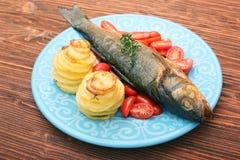 Smoked sea bass Royalty Free Stock Photography