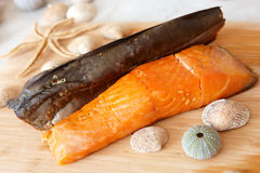Smoked sea fish Royalty Free Stock Image