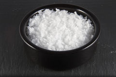Sea Salt Flakes in Bowl  Royalty Free Stock Photography