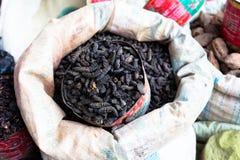 Smoked silkworms, Burkina Faso Royalty Free Stock Images