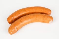 Smoked spicy polish sausage. Two smoked spicy polish sausage stock photos