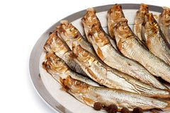 Smoked sprat-appetizing Stock Photo