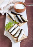 Smoked sprat Royalty Free Stock Images