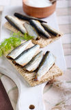 Smoked sprat Royalty Free Stock Photos