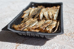 Smoked sprats. Royalty Free Stock Photography