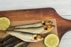 Smoked sprats Royalty Free Stock Images