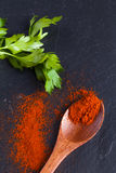 Parsley and paprika stock image
