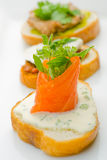 Smoked Tasmanian Salmon on toast Royalty Free Stock Images