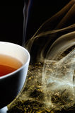 Smoked tea. And hot tea cup Stock Images