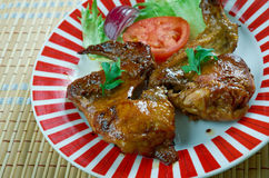 Smoked Texan chicken wings. Great for lunch, a barbecue or picnic Stock Photos