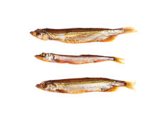 Smoked three fishes. Stock Images