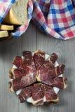 Smoked torkade kött arkivbild
