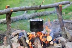 Smoked tourist kettle Royalty Free Stock Image