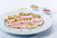 Smoked trout filet Stock Image