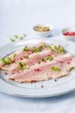 Smoked trout filet Royalty Free Stock Photography