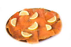 Smoked Trout and Lemon Stock Photography