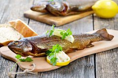 Smoked trout Royalty Free Stock Photography