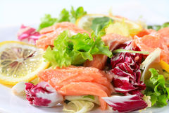 Smoked trout salad Stock Image