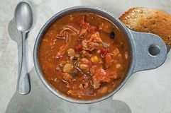 Smoked Turkey and Bean Soup Royalty Free Stock Photos