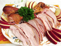 Smoked Turkey Platter Royalty Free Stock Photography