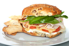 Smoked Turkey Sandwich Royalty Free Stock Photo