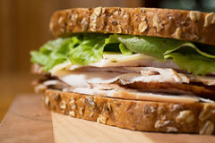 Smoked turkey sandwich Stock Image