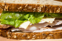Smoked Turkey Sandwich Stock Photography
