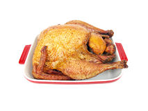 Smoked turkey in a tray Royalty Free Stock Photo