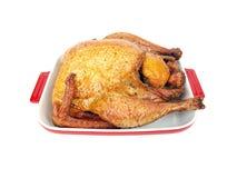 Smoked turkey in a tray Royalty Free Stock Photo