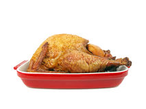 Smoked turkey in a tray Royalty Free Stock Photos