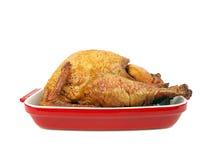 Smoked turkey in a tray Royalty Free Stock Photos