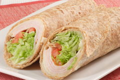 Smoked Turkey Wrap Royalty Free Stock Photography