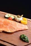 Smoked wild salmon fillet with vegetable Royalty Free Stock Photos