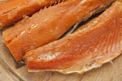 Smoked Yukon salmon Stock Photo