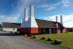 Smokehouse on Bornholm island. Denmark stock photo