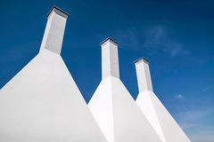 A smokehouse chimney on Bornholm Stock Images