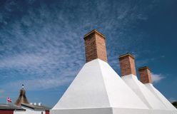 Smokehouse chimneys on Bornholm Royalty Free Stock Image