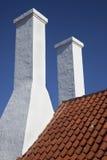 Smokehouse Chimnies. Bornholm, Denmark Stock Photos