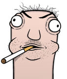 Smoker cartoon. Smoker and alcoholic cartoon, illustration stock illustration