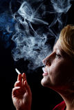 Smoker with cigarette Stock Photo