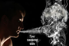 Smoker and death. You smoking side concept Stock Image