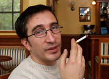 Smoker Face / Enough, Pal? stock images